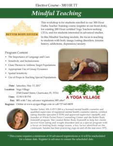 20170424-Mindful Teaching-Elective Course-300 HR TT-YOGA VILLAGE